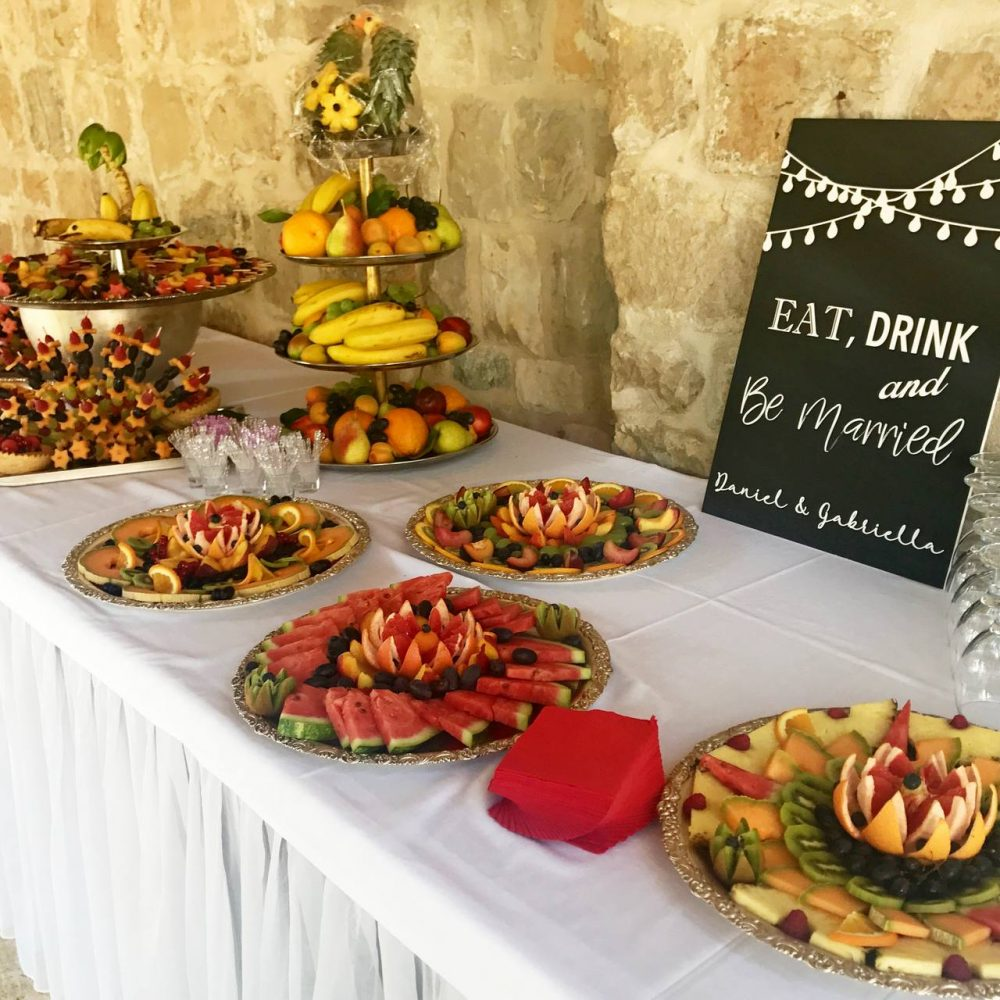 Dubrovnik finger food catering at villa