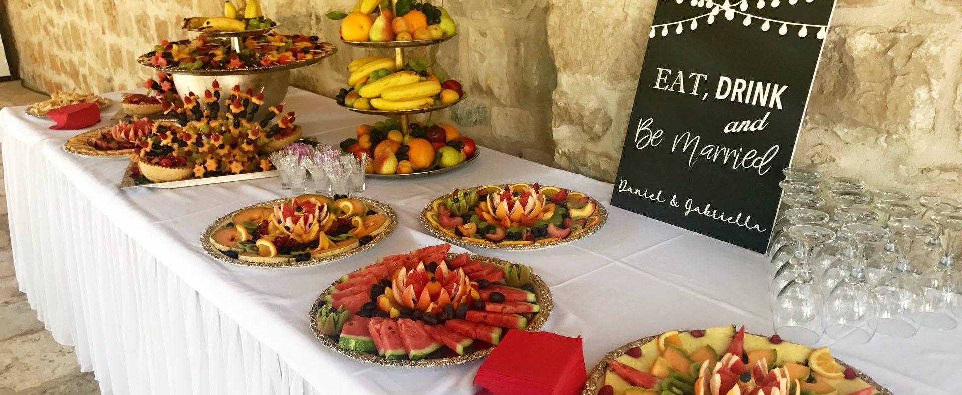 Dubrovnik finger food catering at villa