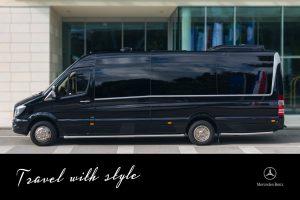 Dubrovnik airport transfer private Mercedes Sprinter mini-bus