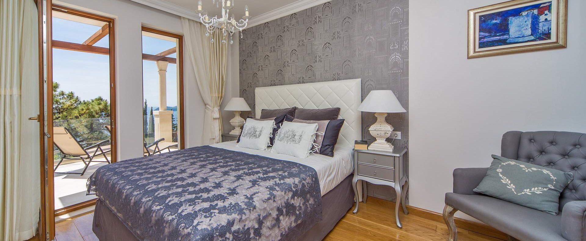 Dubrovnik Croatia bedroom with sea view